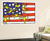 Untitled Pop Art Fototapete von Keith Haring