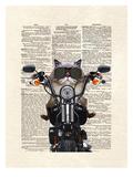 Roxie Motorcycle Poster di Matt Dinniman