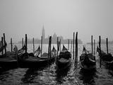 Gondolas and the Church of San Giorgio Maggiore, Venice, Veneto, Italy Fotografisk tryk af Roy Rainford
