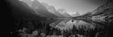 Mountains Reflected in Lake, Glacier National Park, Montana, USA Fotografisk trykk