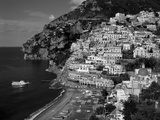 Amalfi Coast, Coastal View and Village, Positano, Campania, Italy Fotografie-Druck von Steve Vidler