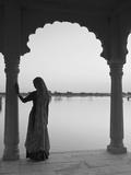 Woman Wearing Sari, Jaisalmer, Rajasthan, India Photographic Print by Doug Pearson
