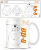 Star Wars Episode VII - BB8 Sketch Mug Taza