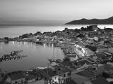 Harbour at Dusk, Pythagorion, Samos, Aegean Islands, Greece Opspændt lærredstryk af Stuart Black