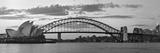 Opera House and Harbour Bridge  Sydney  New South Wales  Australia