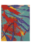 Abstract Painting, c. 1982 (aqua, red, indigo, yellow) Print by Andy Warhol