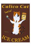 Calico Cat Ice Cream Limitierte Auflage von Ken Bailey
