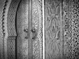 Royal Palace Door, Fes, Morocco Fotoprint van Doug Pearson