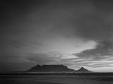 Table Mountain, Sunset, Cape Town, South Africa Fotografisk tryk af Steve Vidler