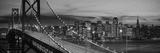 Bay Bridge Illuminated at Night, San Francisco, California, USA Photographic Print