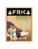 Afrika mit dem Flieger Kunstdrucke von Brian James