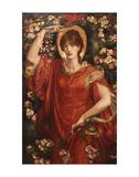 A Vision of Fiammetta, 1878 Posters av Dante Gabriel Rossetti
