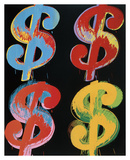 $4, 1982 (blue, red, orange, yellow) Posters af Andy Warhol