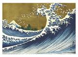Big Wave (from 100 views of Mt. Fuji) Poster von Katsushika Hokusai