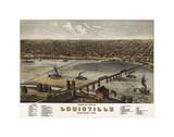 Bird's Eye View of Louisville, Kentucky, 1876 Plakater av A. Ruger