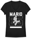 Women's: Super Mario Bros- Jumpin Since 85 V-Neck Camisetas de cuello de pico para mujer