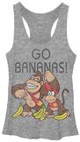 Juniors Tank Top: Donkey Kong- Go Bananas Womens Tank Tops