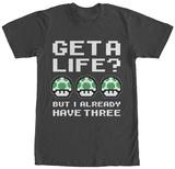 Super Mario Bros- Three Lives T Shirts