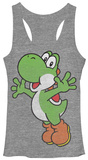 Juniors Tank Top: Super Mario Bros- Yoshi Hug レディースタンクトップ
