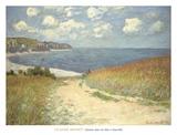Chemin dans les bles a Pourville  1882