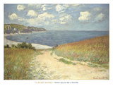 Chemin dans les bles a Pourville, 1882 Prints by Claude Monet