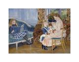 Children's Afternoon at Wargemont, 1884 Art by Pierre-Auguste Renoir