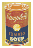 Colored Campbell's Soup Can, 1965 (yellow & blue) Posters by Andy Warhol