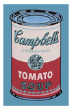 Colored Campbell's Soup Can, 1965 (pink & red) Poster van Andy Warhol