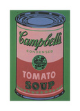 Colored Campbell's Soup Can, 1965 (red & green) Stampa giclée di Andy Warhol