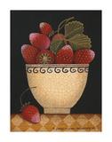 Cup O Strawberries Affiches par Diane Ulmer Pedersen