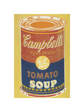 Colored Campbell's Soup Can, 1965 (yellow & blue) Stampa giclée di Andy Warhol