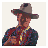 Cowboys & Indians: John Wayne, 1986 Poster by Andy Warhol