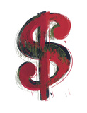 Dollar Sign, 1981 (red) Posters by Andy Warhol