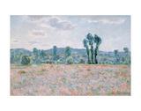 Poppy Field, 1890 Art par Claude Monet
