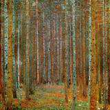 Dennenbos Posters van Gustav Klimt