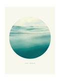 Inspirational Circle Design - Rolling Water: Deep Breath Lámina giclée por  khorzhevska