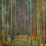 Dennenbos Affiches van Gustav Klimt