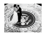 President Obama and The First Lady (b/w) Kunst af  Celebrity Photography
