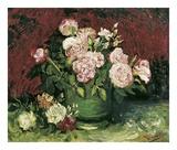 Roses and Peonies, 1886 Posters av Vincent van Gogh