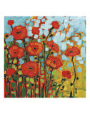 Red Poppy Field Posters par Jennifer Lommers