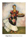 Portrait of Dolores Olmedo Plakater af Rivera, Diego