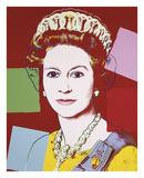 Reigning Queens: Queen Elizabeth II of the United Kingdom, 1985 (dark outline) Plakater af Andy Warhol