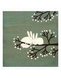 Kaniner i træ med skumfiduser Posters af Kristiana Pärn