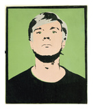 Self-Portrait, 1964 (on green) Stampa giclée di Andy Warhol