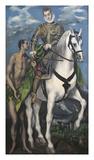 Saint Martin and the Begger 1597-99 Láminas por  El Greco