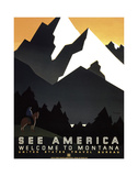 See America - Welcome to Montana II Poster di  Vintage Reproduction