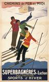 Superbagneres-Luchon, Sports d'Hiver Plakater av Leonetto Cappiello