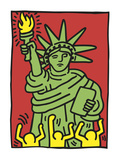 Statue of Liberty, 1986 Kunst af Keith Haring