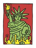 Statue of Liberty, 1986 Arte por Keith Haring