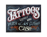 Tattoos sign Posters by  Zeke's Antique Signs